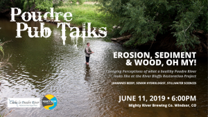 """Poudre Pub Talk: """"Erosion, Sediment, and Wood, Oh My!"""" @ Mighty River Brewing 